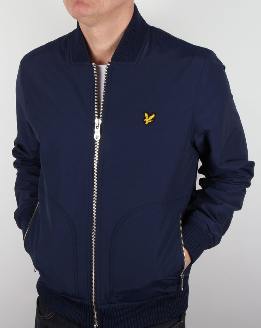 lyle and scott nylon bomber jacket navy lightweight coat mens. Black Bedroom Furniture Sets. Home Design Ideas