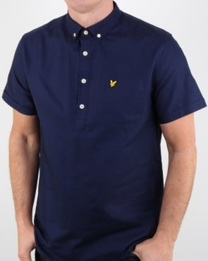 Lyle And Scott Overhead Oxford Shirt Navy