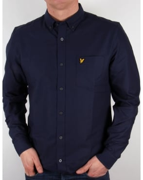 Lyle And Scott Oxford L/s Shirt Navy