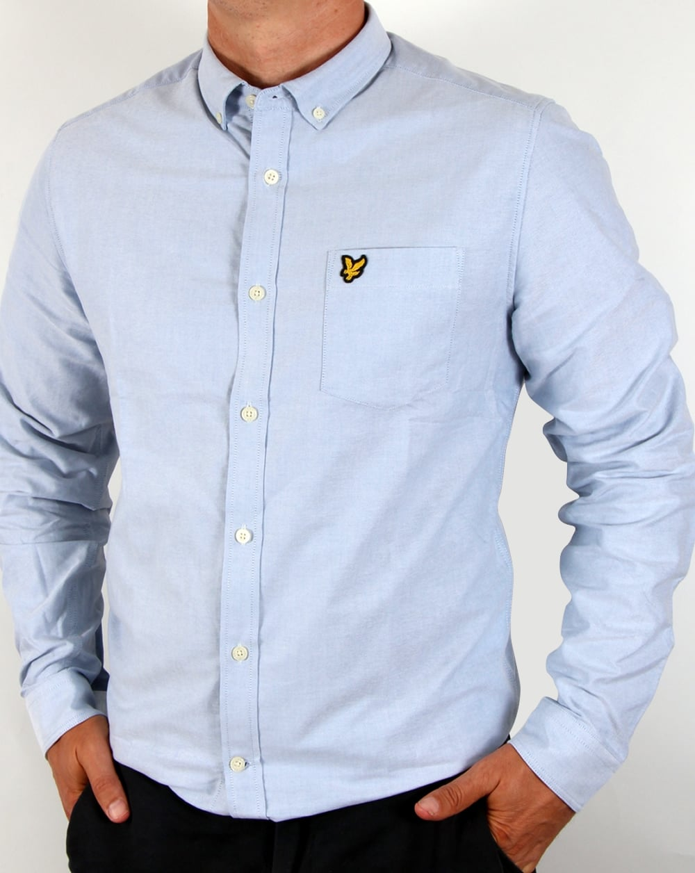 5709821ee2d69 Lyle and Scott Lyle And Scott Oxford Long Sleeve Shirt Sky Blue