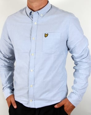 Lyle And Scott Oxford Long Sleeve Shirt Sky Blue