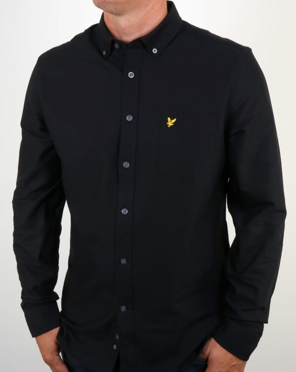 Lyle and Scott Oxford Shirt Black