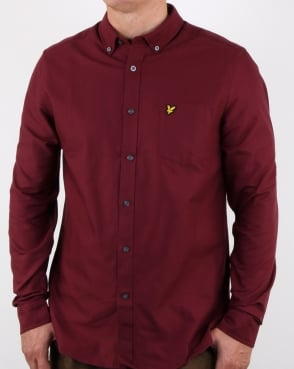 Lyle And Scott Oxford Shirt Claret Jug