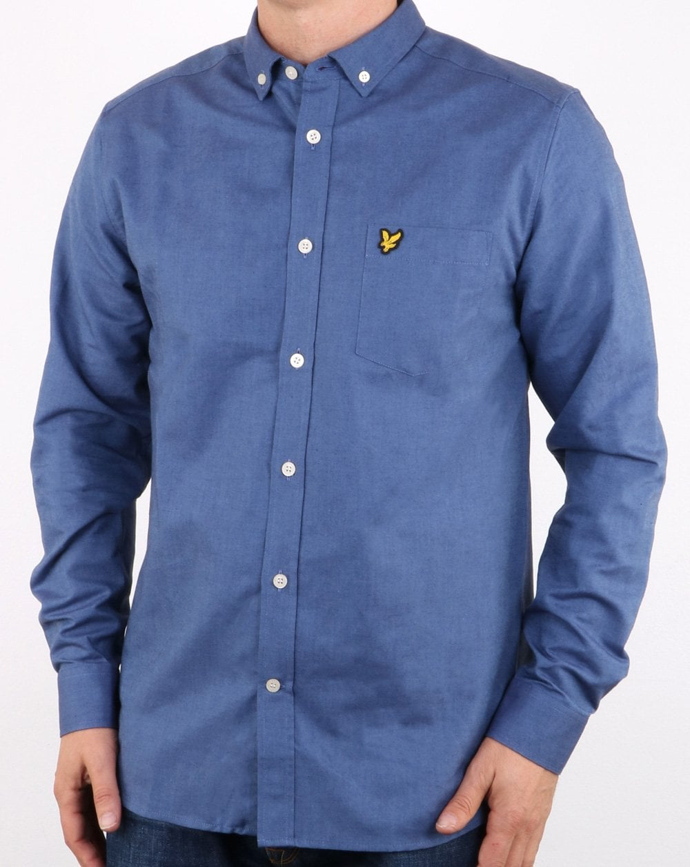 4eb369158940 Lyle And Scott Indigo Oxford Shirt Blue | 80s casual classics