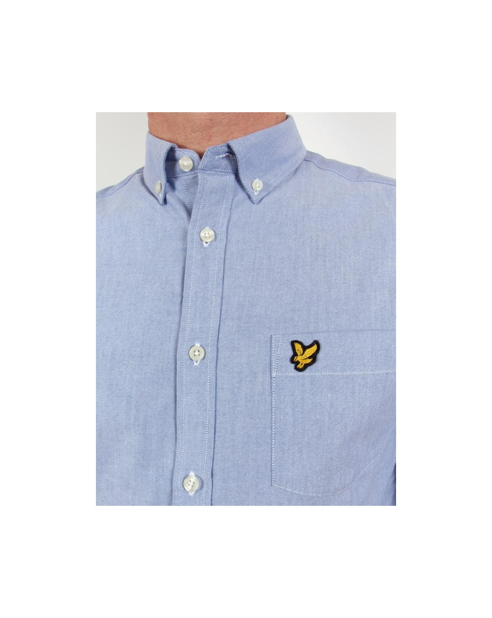 Lyle and scott oxford shirt l s french blue lyle scott for French blue oxford shirt
