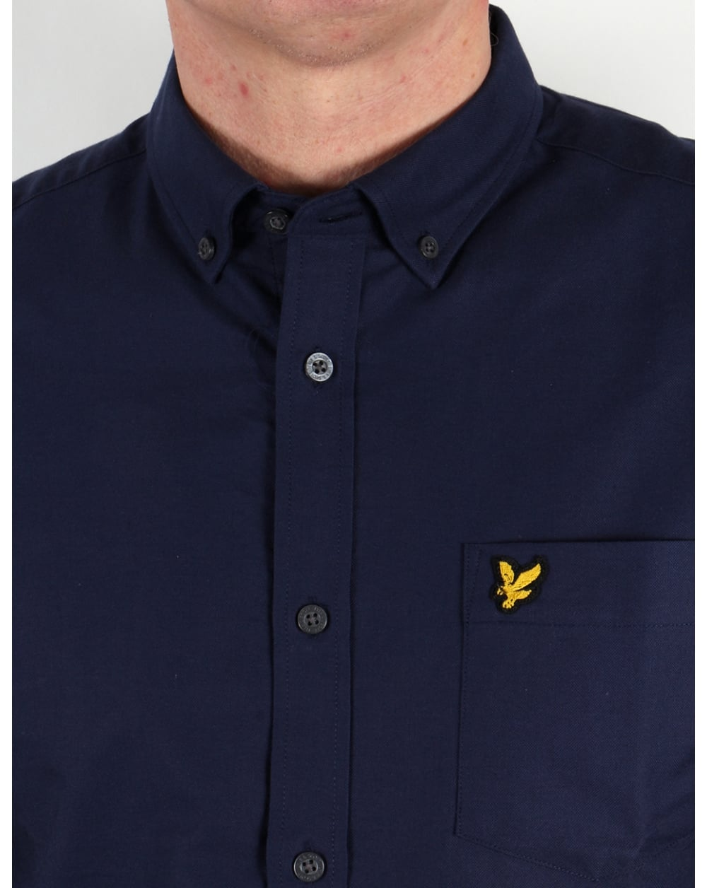 lyle and scott shirt navy oxford long sleeve mens smart. Black Bedroom Furniture Sets. Home Design Ideas