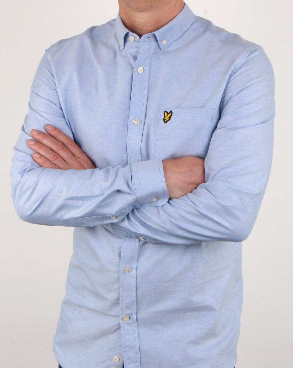 lyle and scott oxford shirt riviera oxford long sleeve mens smart. Black Bedroom Furniture Sets. Home Design Ideas
