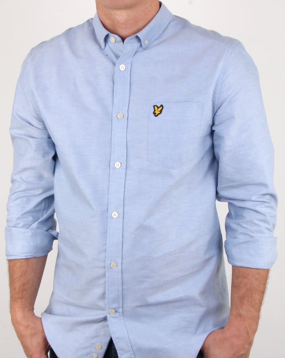 ee2fcb3836c Lyle And Scott Oxford Shirt Riviera Pale Blue