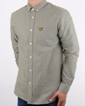 Lyle And Scott Oxford Shirt Woodland Green