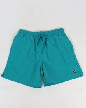 Lyle And Scott Plain Swim Shorts Aqua Green