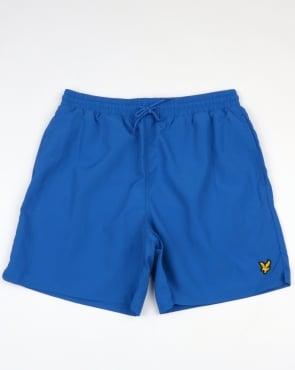 Lyle And Scott Plain Swim Shorts Lake Blue