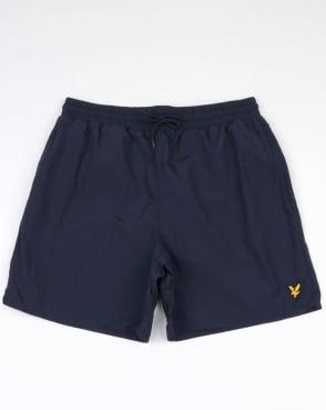 Lyle And Scott Plain Swim Shorts Navy