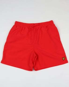 Lyle And Scott Plain Swim Shorts Poppy
