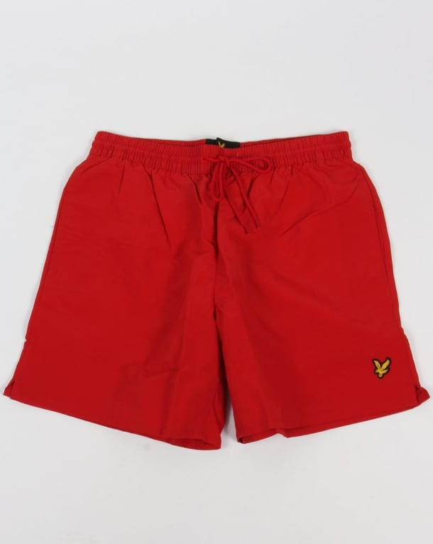Lyle And Scott Plain Swim Shorts Racing Red