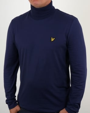 Lyle And Scott Polo Neck T Shirt Navy