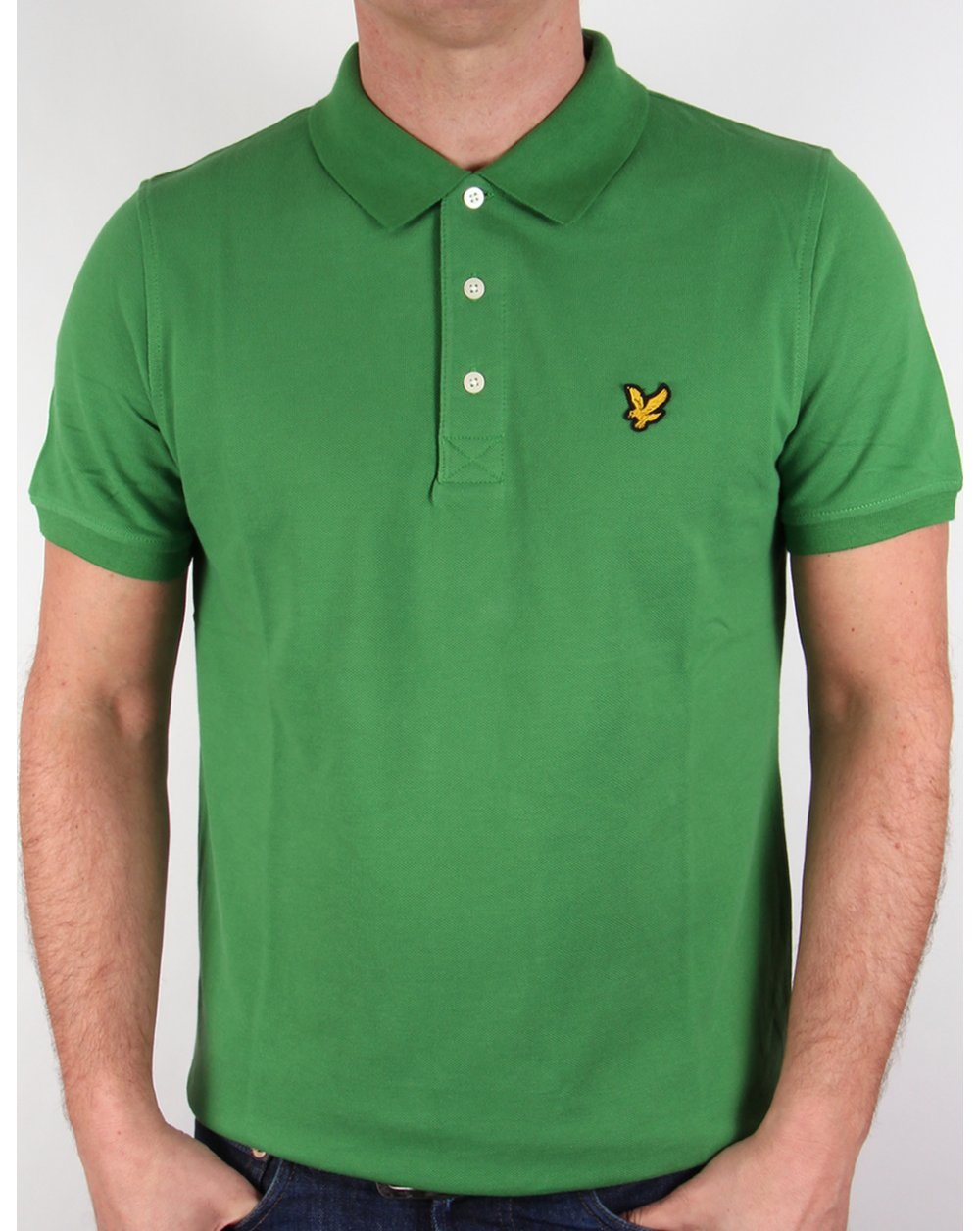 lyle and scott polo shirt basil green neck mens. Black Bedroom Furniture Sets. Home Design Ideas