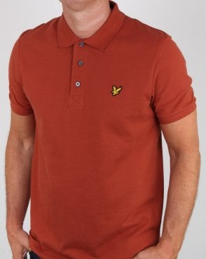 Lyle And Scott Polo Shirt Brown Spice