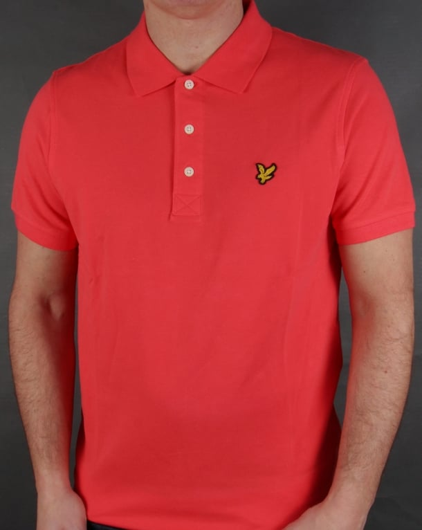 Lyle And Scott Polo Shirt Cinnabar Red