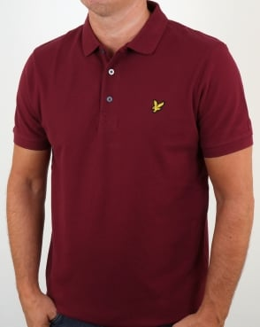 Lyle And Scott Polo Shirt Claret Jug