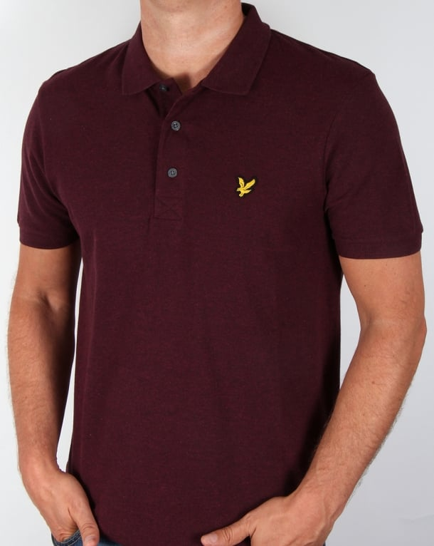 Lyle And Scott Polo Shirt Claret Marl