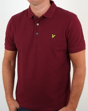 Lyle And Scott Polo Shirt Claret
