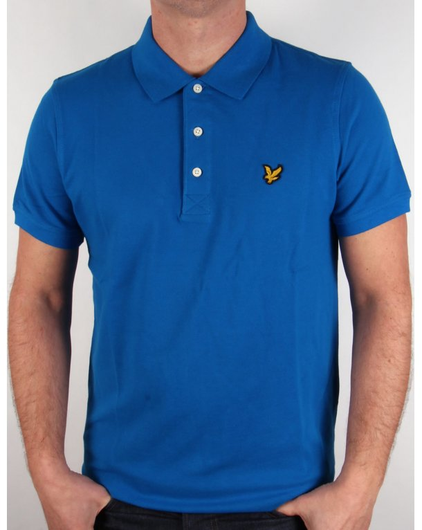 Lyle And Scott Polo Shirt Deep Cobalt