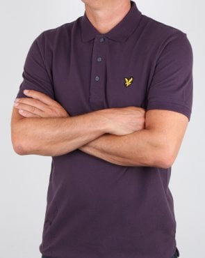 Lyle And Scott Polo Shirt Deep Plum