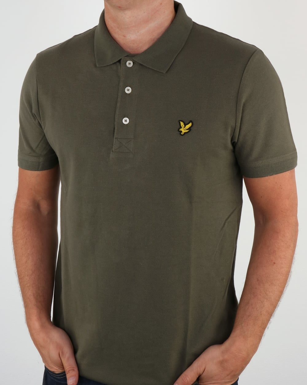 lyle and scott polo shirt dusty olive cotton mens. Black Bedroom Furniture Sets. Home Design Ideas