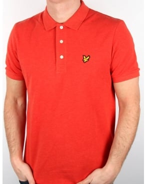 Lyle And Scott Polo Shirt Flame Red Marl