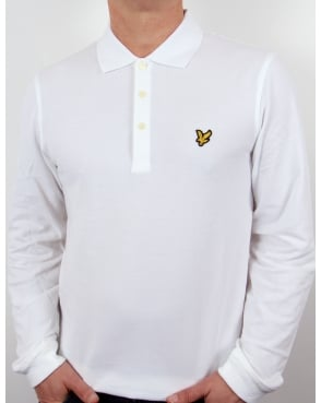 Lyle And Scott Polo Shirt L/s White