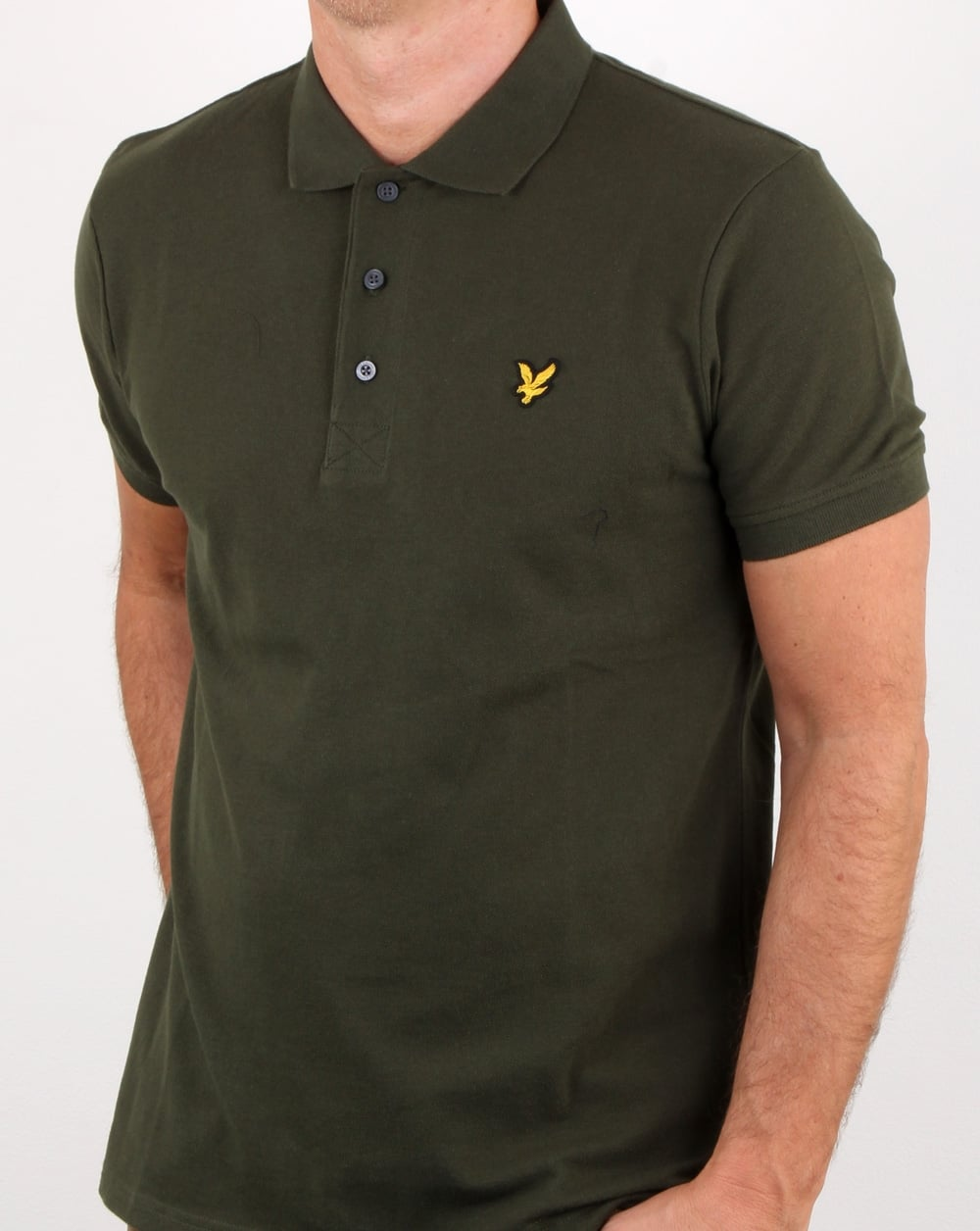 lyle and scott polo shirt leaf green mens polo cotton pique. Black Bedroom Furniture Sets. Home Design Ideas