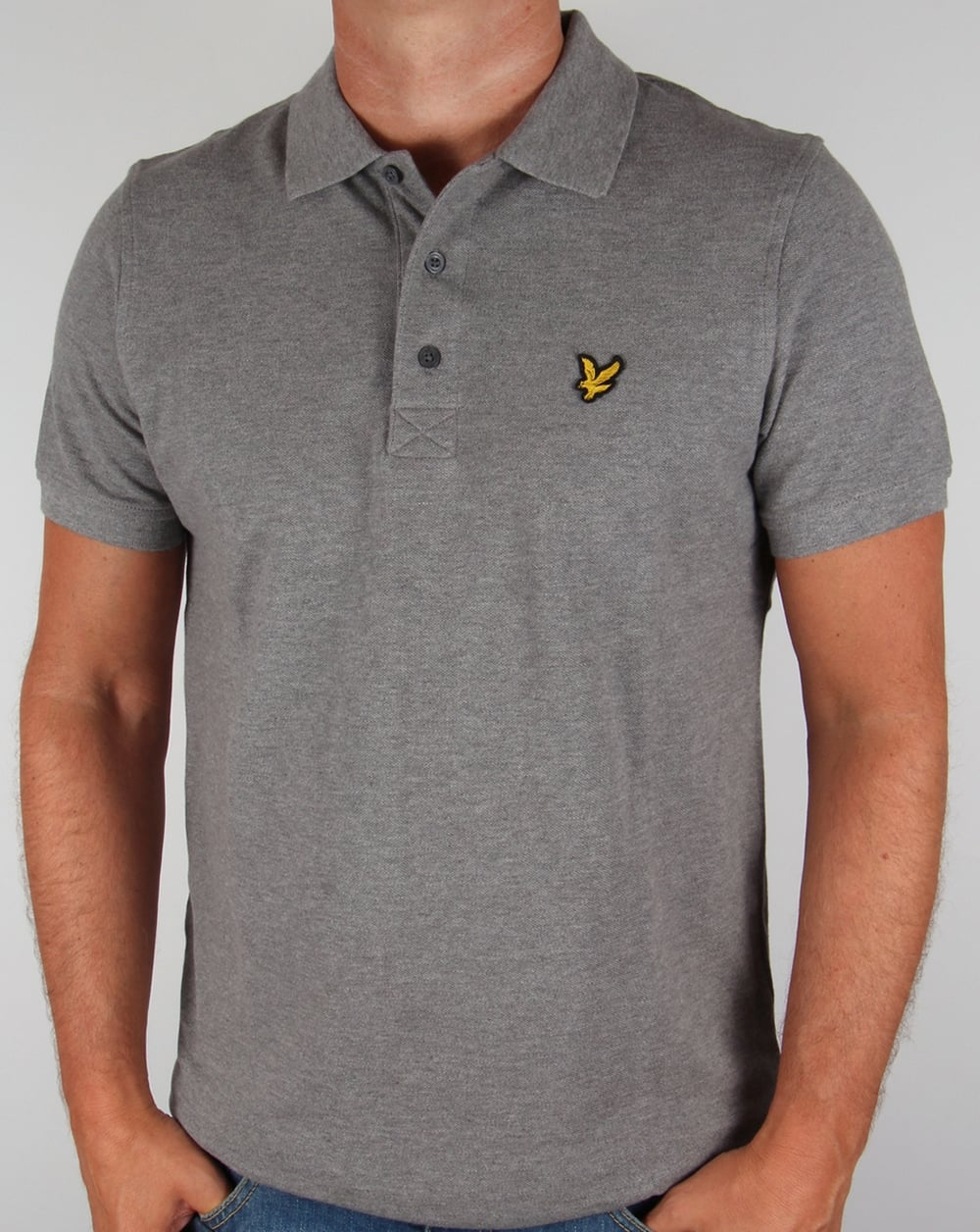 Lyle and scott polo shirt mid grey marl men 39 s for Lyle and scott shirt sale