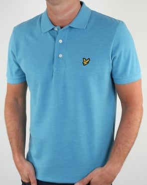 Lyle And Scott Polo Shirt Pacific Blue Marl