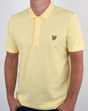 Lyle And Scott Polo Shirt Pale Yellow