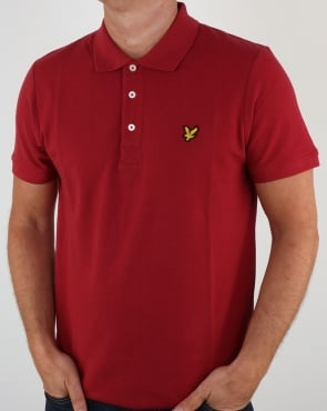 Lyle And Scott Polo Shirt Pomegranate