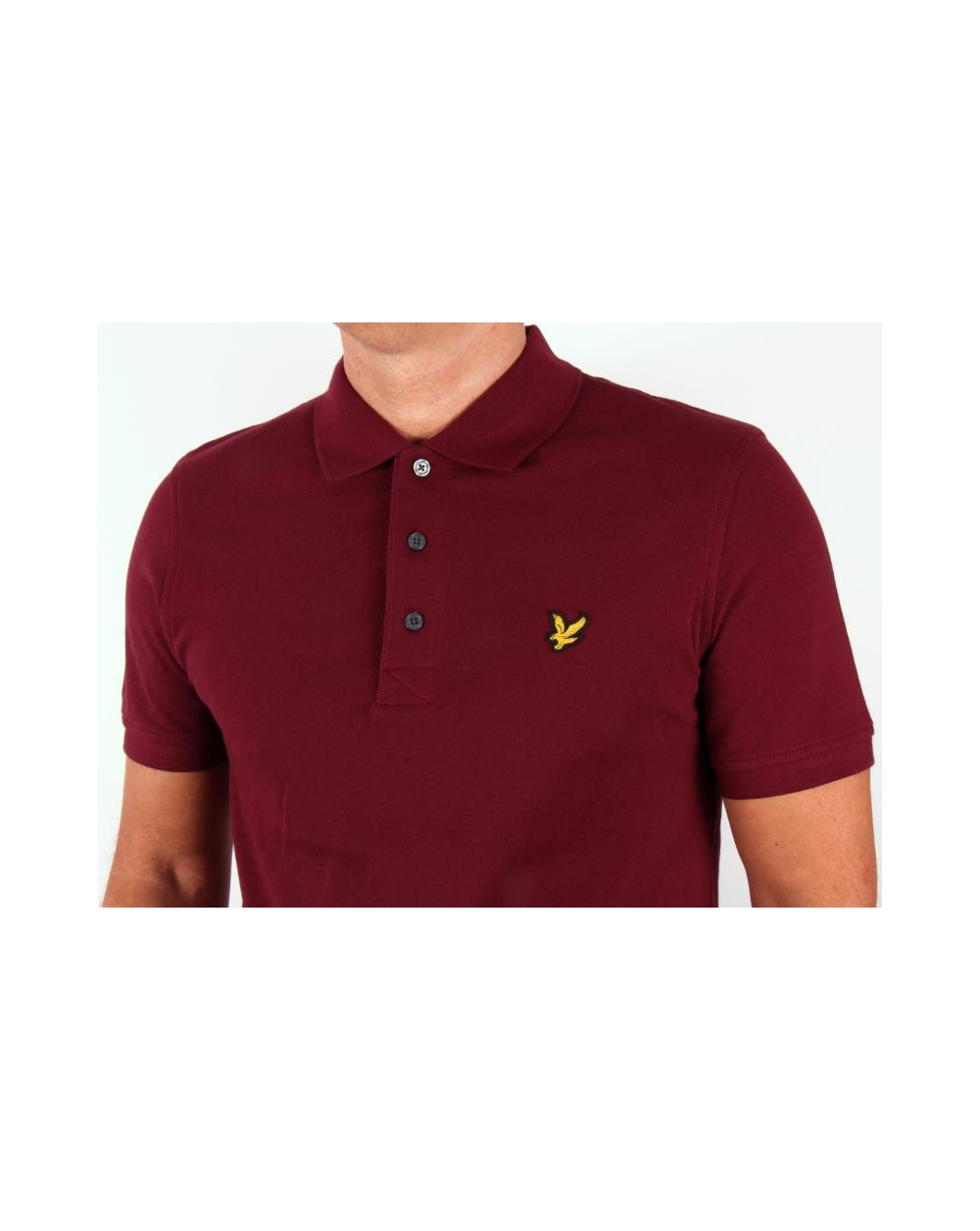lyle and scott polo shirt s s bright claret lyle scott polo shirt. Black Bedroom Furniture Sets. Home Design Ideas