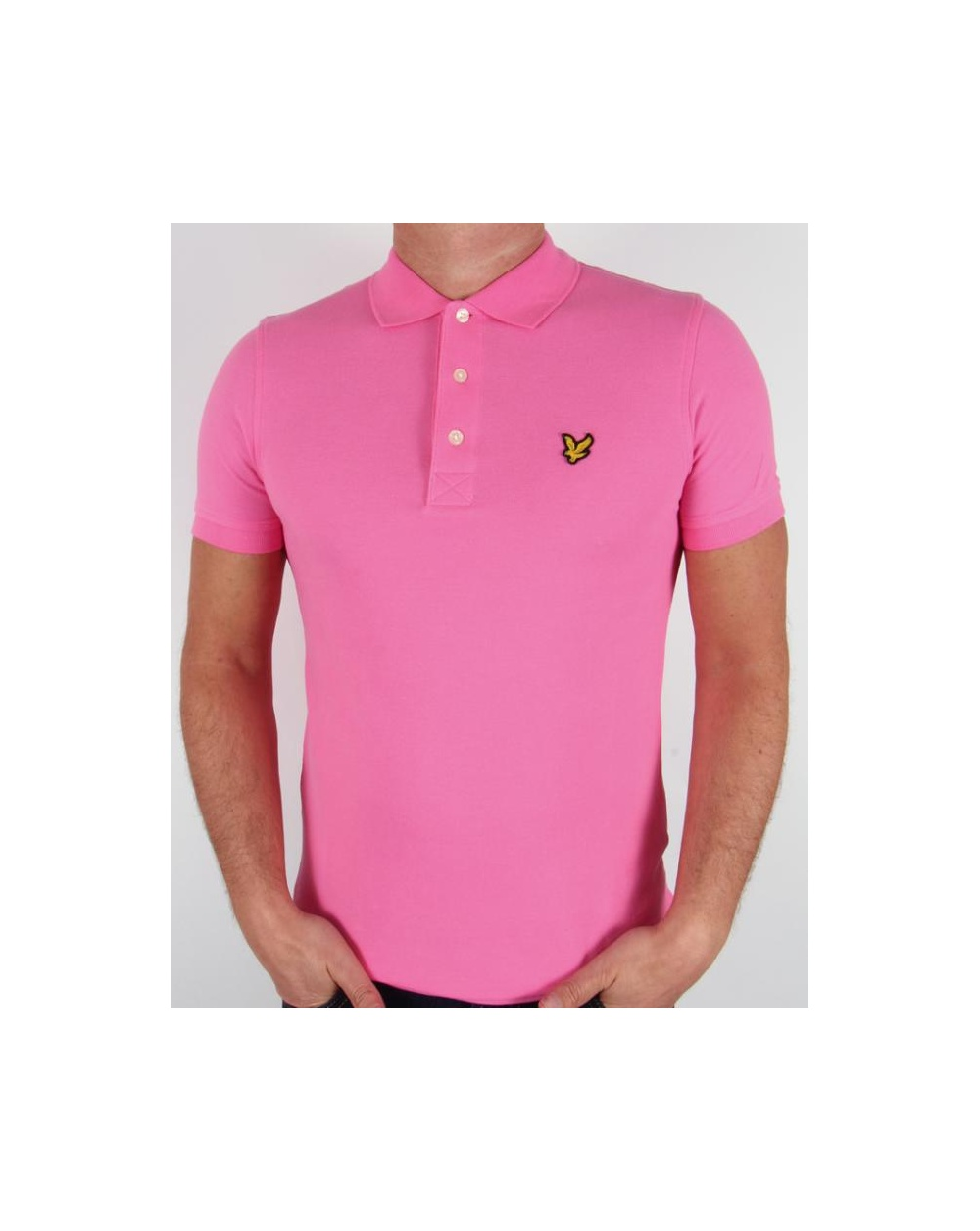 Lyle and scott polo shirt s s hot pink lyle scott polo for Lyle and scott shirt sale