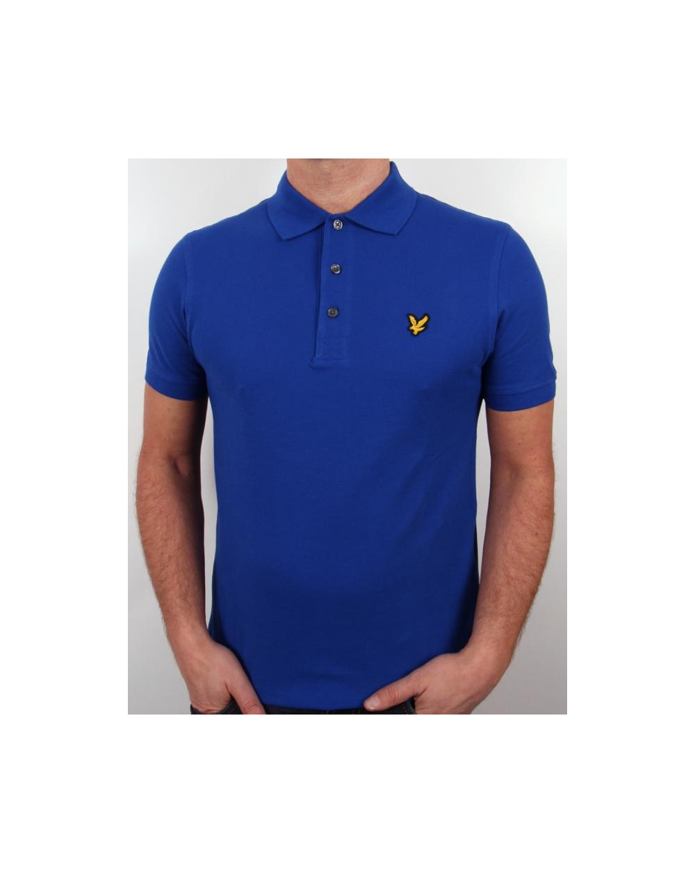 lyle and scott polo shirt s s royal blue lyle scott polo shirt. Black Bedroom Furniture Sets. Home Design Ideas