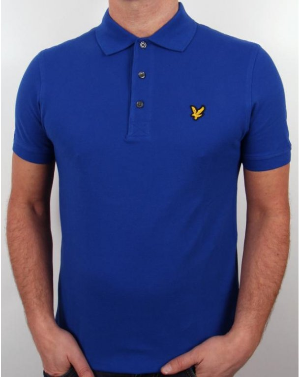 Lyle And Scott Polo Shirt S/s Royal Blue