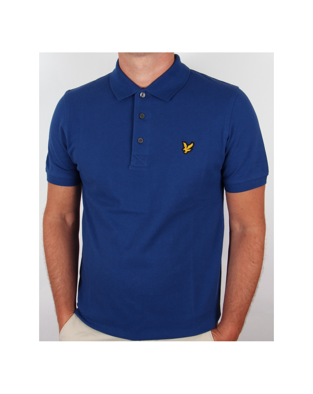 lyle and scott polo shirt s s saltire blue lyle scott polo shirt. Black Bedroom Furniture Sets. Home Design Ideas