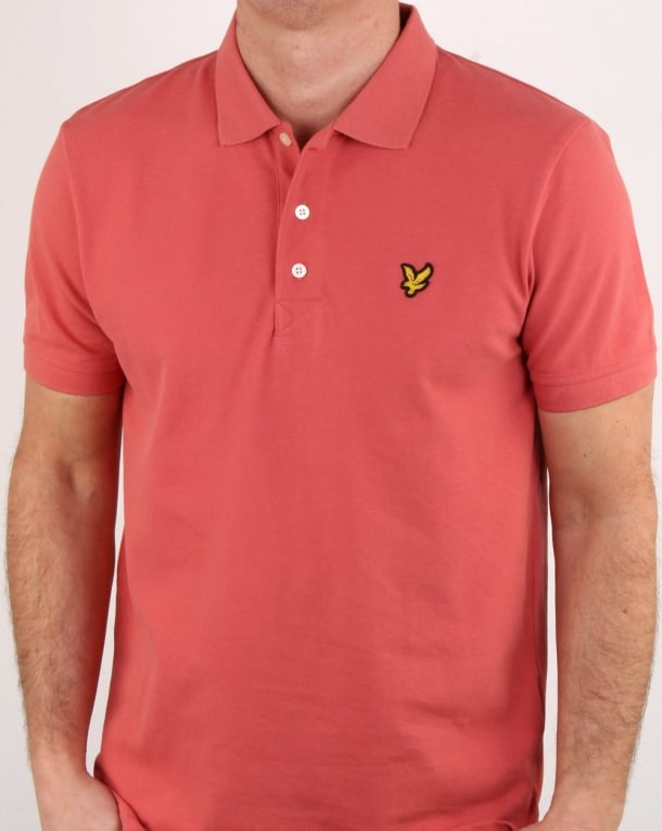Lyle and Scott Polo Shirt Sunset Pink