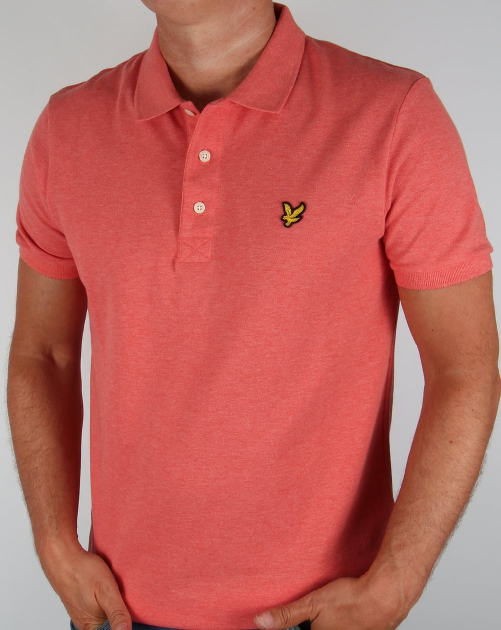 lyle and scott polo shirt terracotta marl men 39 s pink top samon. Black Bedroom Furniture Sets. Home Design Ideas