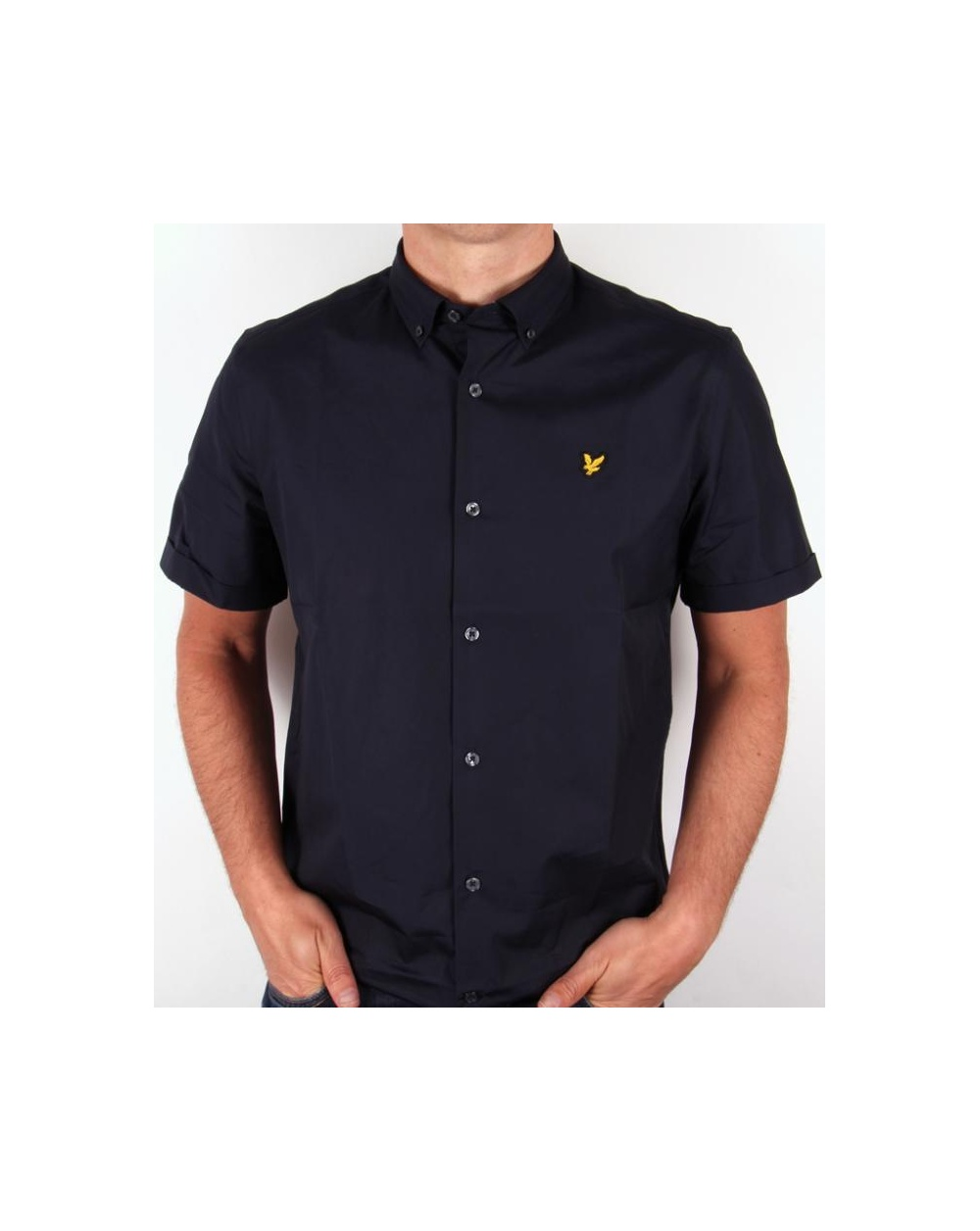 Lyle and scott poplin s s shirt navy lyle and scott for What is a poplin shirt
