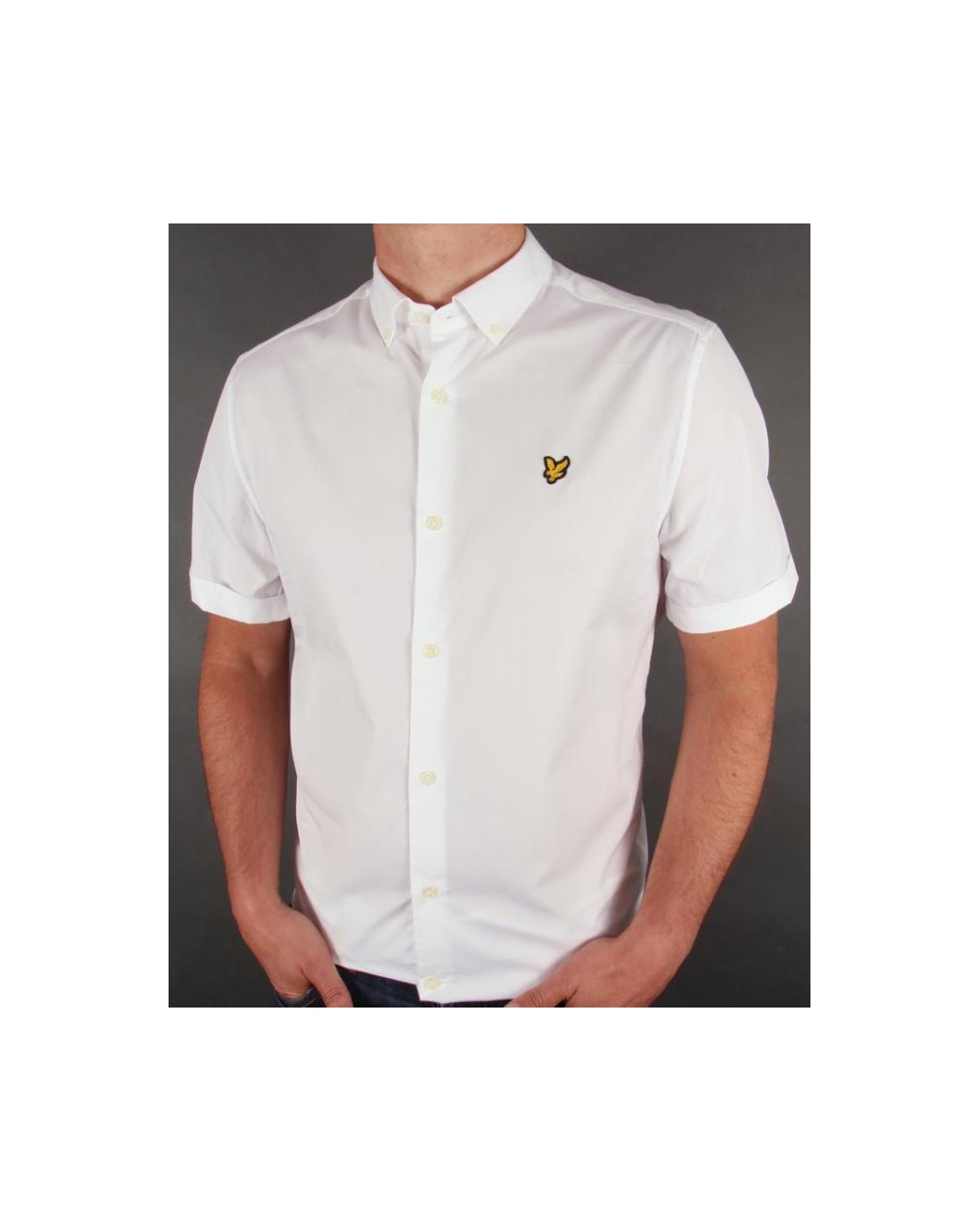 Lyle and scott poplin s s shirt white lyle and scott for Lyle and scott shirt sale