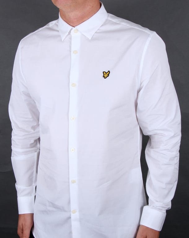 Lyle And Scott Poplin Slim Fit Shirt White
