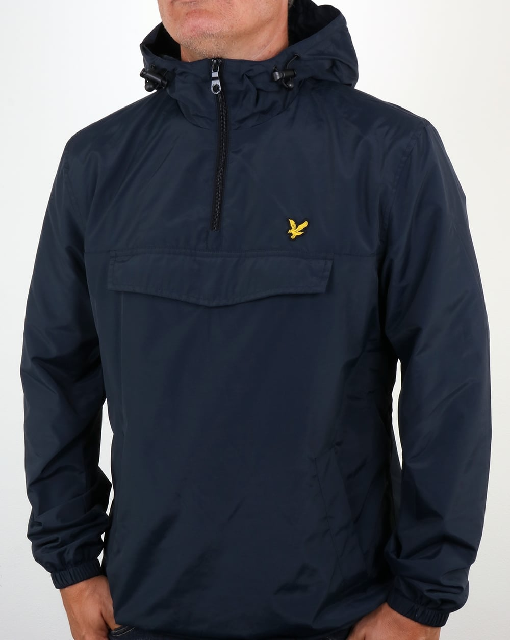 lyle and scott qtr zip smock jacket navy anorak overhead. Black Bedroom Furniture Sets. Home Design Ideas