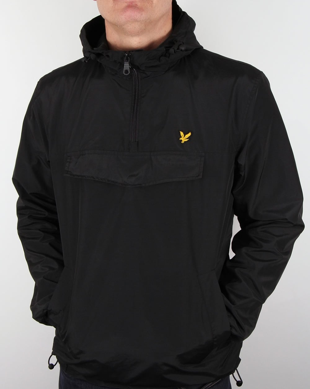 lyle and scott smock qtr zip overhead black jacket coat. Black Bedroom Furniture Sets. Home Design Ideas