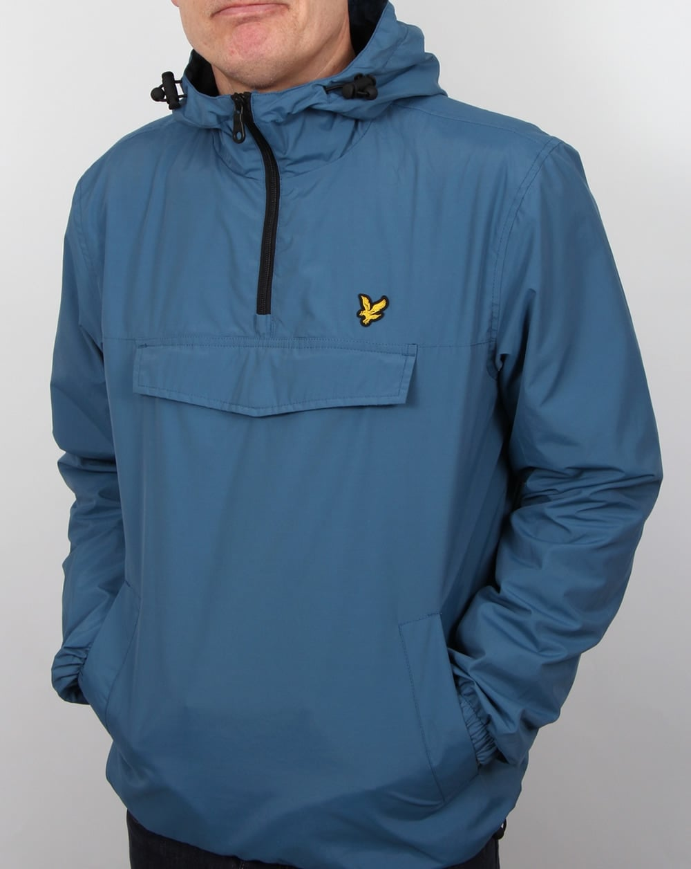 lyle and scott smock qtr zip overhead jacket coat teal blue. Black Bedroom Furniture Sets. Home Design Ideas
