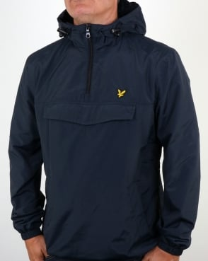 Lyle And Scott Qtr Zip Smock Jacket Navy