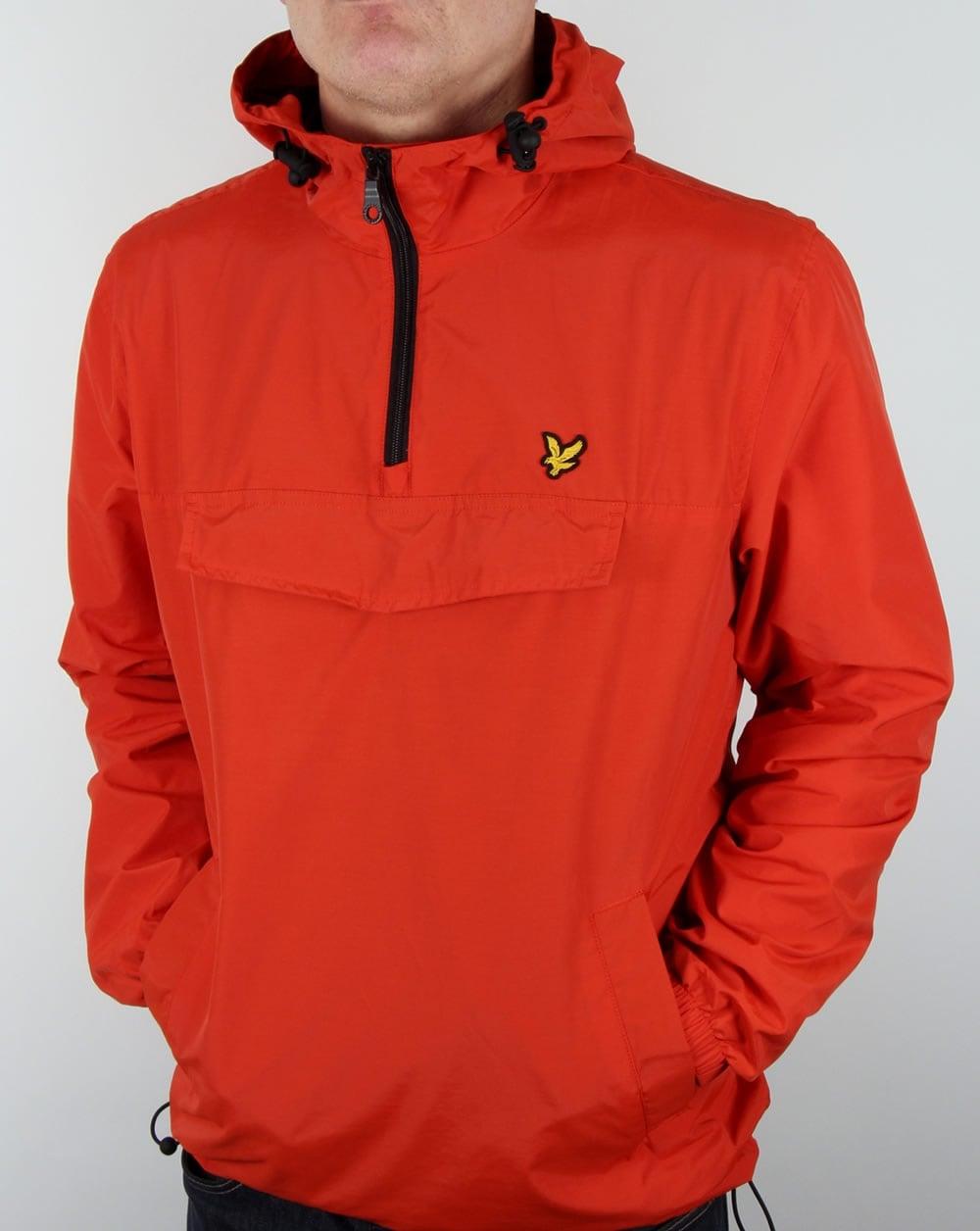 lyle and scott smock qtr zip overhead jacket coat orange. Black Bedroom Furniture Sets. Home Design Ideas